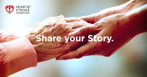 Share your story - hands holding